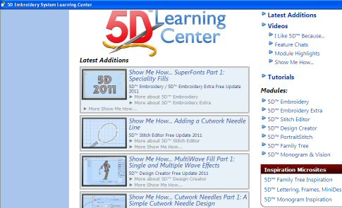 5D Embroidery Software Newsletter June 2011